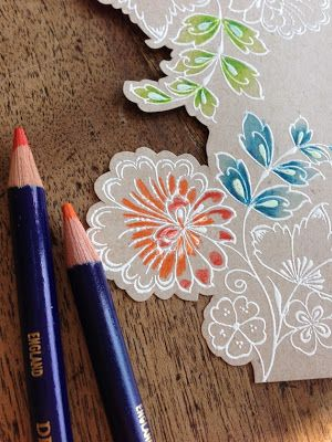 A Picture Tutorial on How I created this Card using Hero Arts Stamps and Inktense Pencils.
