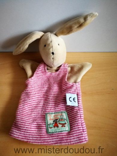 Doudou Lapin Moulin roty Beige rouge sylvain
