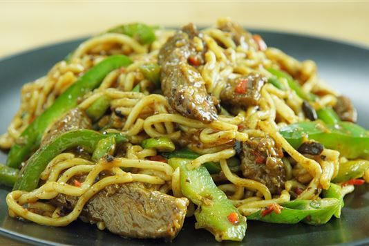 Ching-He Huang's Cantonese beef and black bean noodles recipe