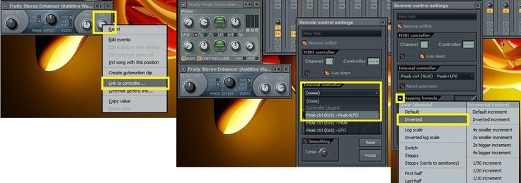 """You may have heard those cool effects artists like Axwell, Ingrosso, Guetta, Antillas and many others use in their songs, the """"pumping effect"""" on the Lead Synths or the vocals, like fading in and out. Its really easy to do this in FL Studio and many other DAWs like Ableton, Cubase, Reason, etc. Step 1: 4 to the Floor Kick First create a basic kick line like this one. I'm using the standard 128 bpm rhythm. Step 2: Linking the Kick With your kick channel selected go to your mixer ..."""