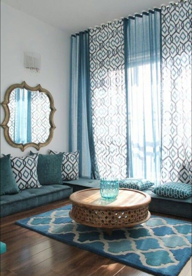 Elegant Loloiin Living Room Mediterranean With Good Looking Prayer Room  Next To Artistic Blue Living Room Alongside Exquisite Floor Seating And  Stunning ... Part 41