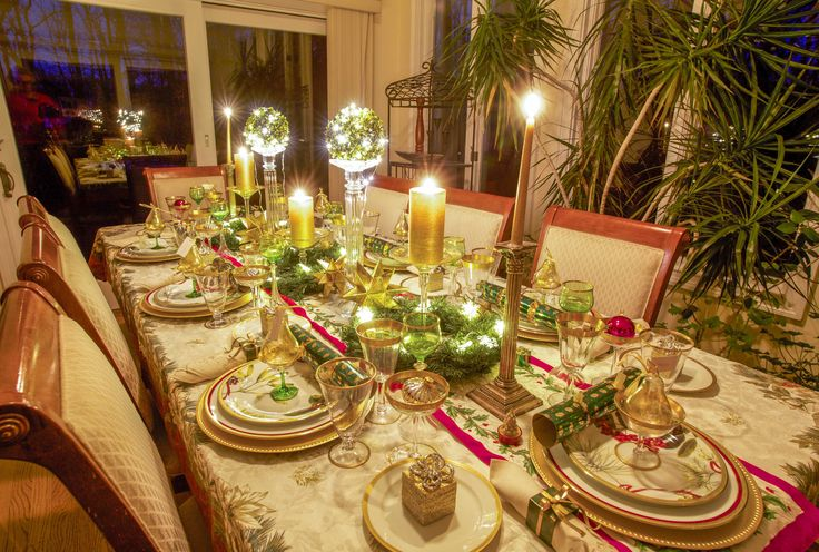 Christmas Tablescape by Candle Light 2013
