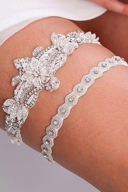 18 Exquisite Wedding Garters For Perfect Wedding Look ❤️ See more: http://www.weddingforward.com/wedding-garters/ #weddings #garters
