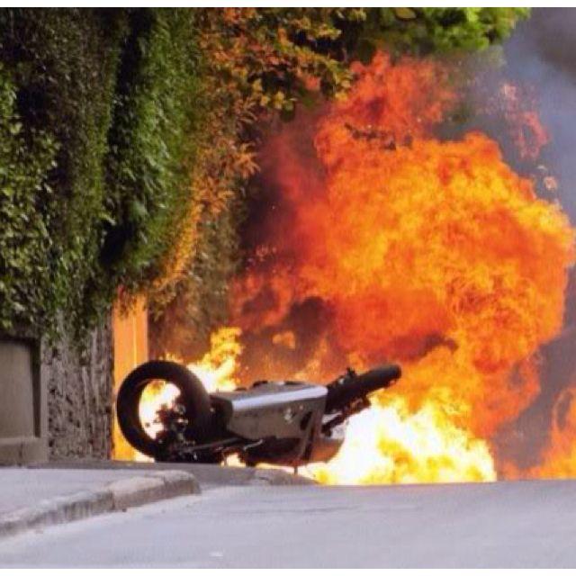 Guy Martin's crash at Ballagarey, Isle of Man TT 2010