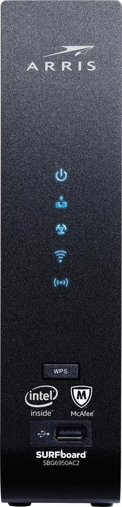 TP-Link - Arris SURFboard Dual-Band Wireless-AC Router with Docsis 3.0 Cable Modem - Black
