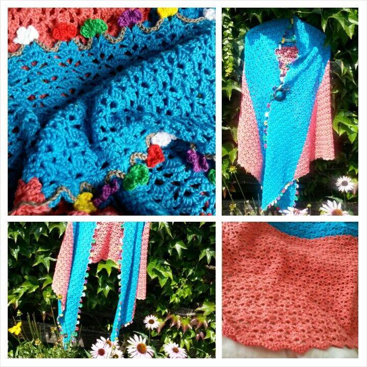 Two-tone sjaal uit Haken&kleur