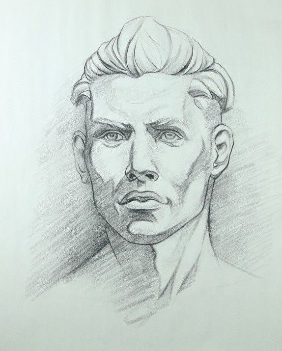 Realistic Portrait Drawing Of A Young Man In Charcoal Original Artwork Portrait Drawing Drawings Realistic Drawings
