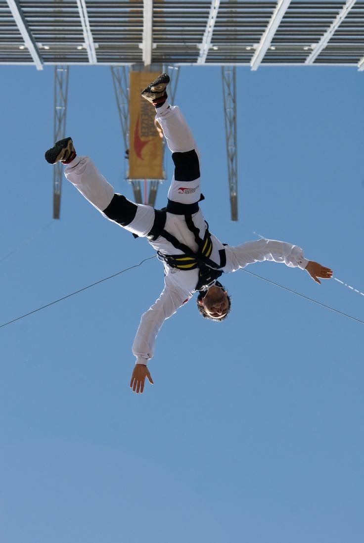 Base Jump - Jochen Schweizer. Berlin, Germany