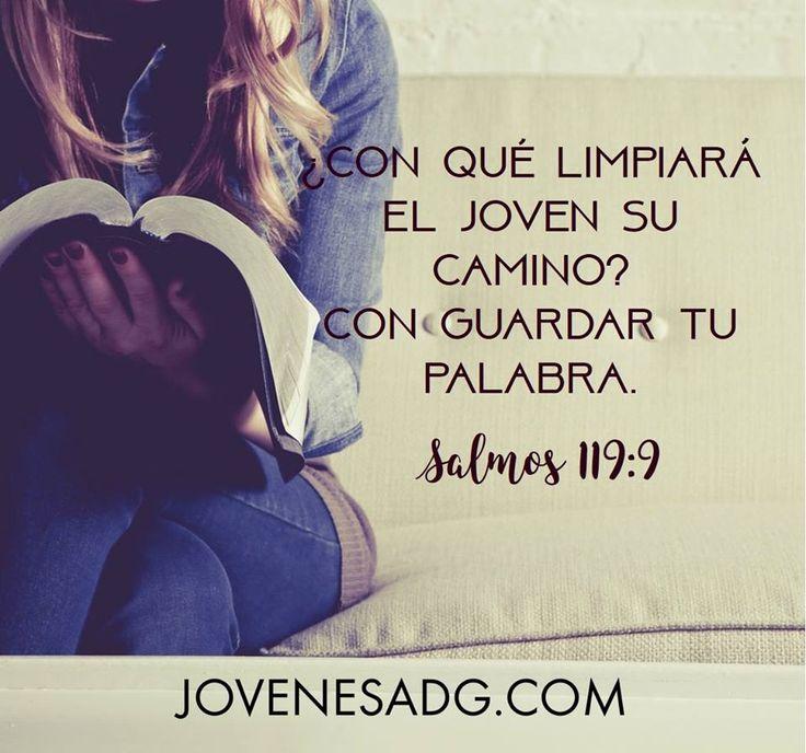 """""""¿Con qué limpiara el joves su camino? Con guardar tu palabra Salmos 119:9 Te invitamos a sumaret a nuestro nuevo estudio """"Eres Perdonada"""" Pincha aquí --> http://www.jovenesADG.com para más información #Eresperdonada #perdón #LGGespañol #LGG #AmaaDiosGrandemente #ComunidadADG #Devocionalparamujeres #Estudiobiblicoenlinea #Biblia #Dios #JovenesADG"""
