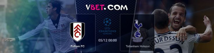 Online Betting on Premier League  Fulham FC vs Tottenham Hotspur www.vbet.com 05/12 at 00:00 GMT +4 Representatives of Western London will host their Northern rivals. Current statistics don't make Fulham the favorite team of this match. During this difficult period the club will be lead by Dutch coach Rene Meulensteen.  Tottenham is not in a good position either.  http://www.vbet.com/inplay/?language=en#/prematch/692473278