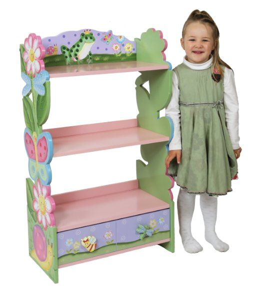 Amazon.com: Fantasy Fields - Magic Garden Bookshelf: Toys & Games -- small, sweet Little shelves