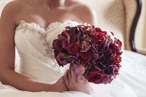 Mask -themed wedding inspiration bouquet