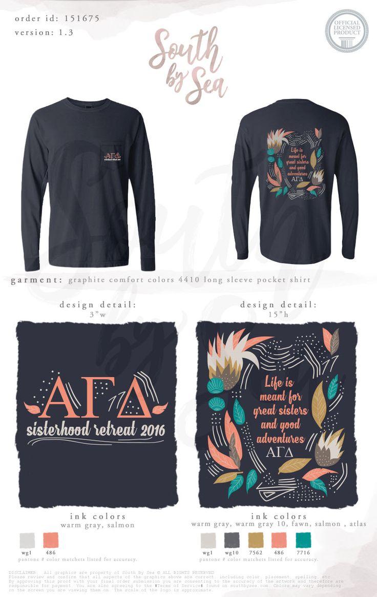 Alpha Gamma Delta | AGD | Sisterhood Retreat | Quotes | South by Sea | Greek Tee Shirts | Greek Tank Tops | Custom Apparel Design | Custom Greek Apparel | Sorority Tee Shirts | Sorority Tanks | Sorority Shirt Designs
