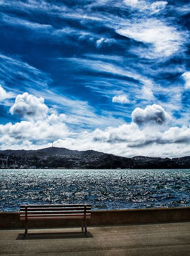 Have a seat and enjoy the view, Wellington, New Zealand #wellington #nz