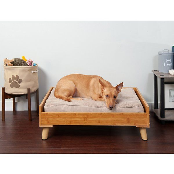 Furhaven Cat Dog Bed Frame Walnut Jumbo Chewy Com Dog Bed Frame Dog Bed Pet Bed Frame