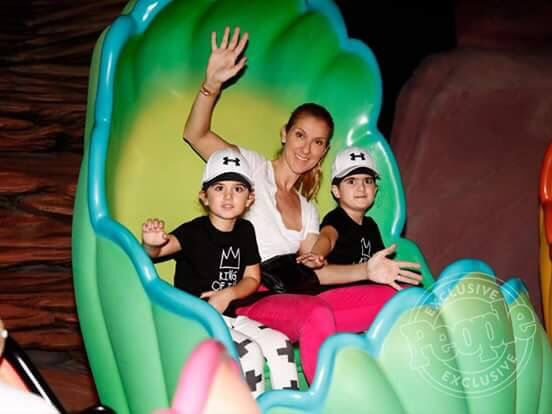 Celine Dion, her twin sons