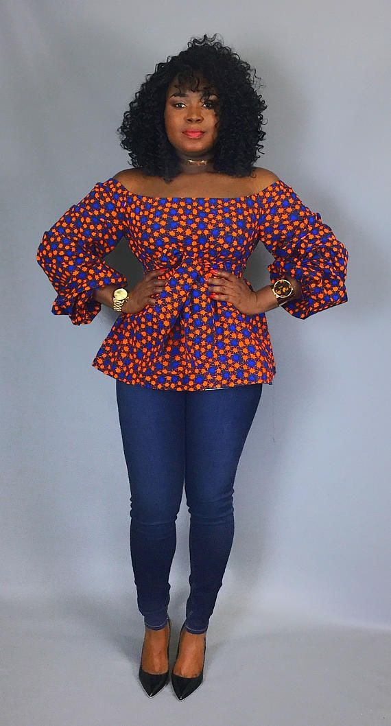 Get your shoulders out this season with our latest off shoulder too .Its the new way to show some skin this season .Perfect summer top for those hot afternoons and evenings night out on the town .An effortless way to keep your style game strong. Off shoulder detailing with cuffed sleeves. Comes with a fabric sash. Made from authentic African wax print. XS – Bust:32 Waist: 25 Hips: 35 (US Size:4, UK Size: 8) S – Bust:34 Waist: 27 Hips: 37 (US Size:6, UK Size: 10) M – Bust:36 Waist: 29 Hips…