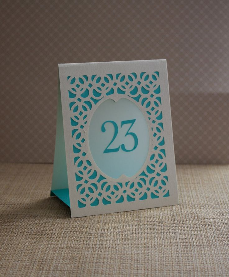 Wedding Table Cards / Table Numbers / Luminaries / Table Markers / Table Tent Style - Woven Style B CUSTOM COLORS. $3.00, via Etsy.