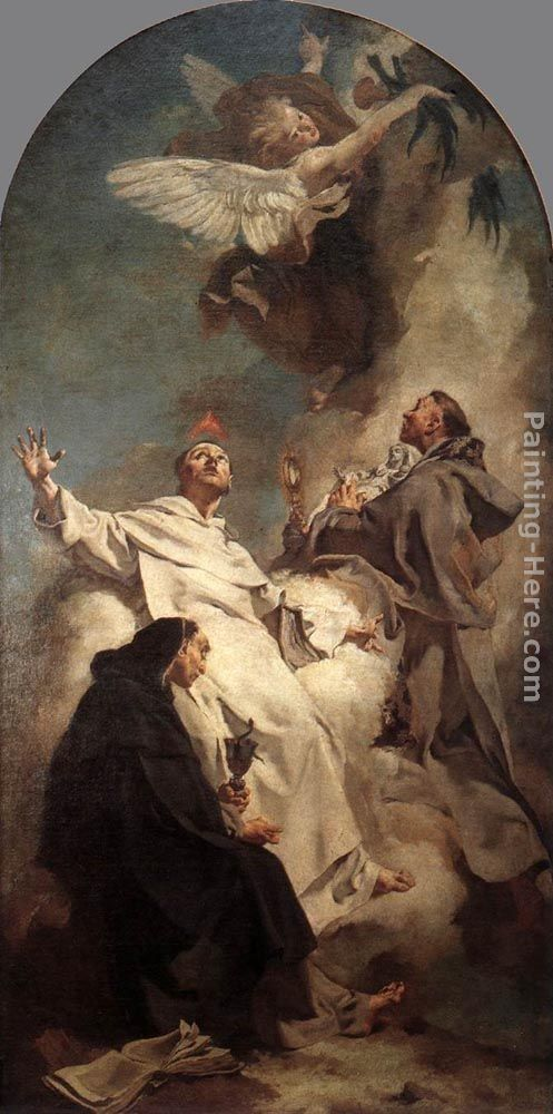 dominican saints | Giovanni Battista Piazzetta Paintings - Giovanni Battista Piazzetta ...