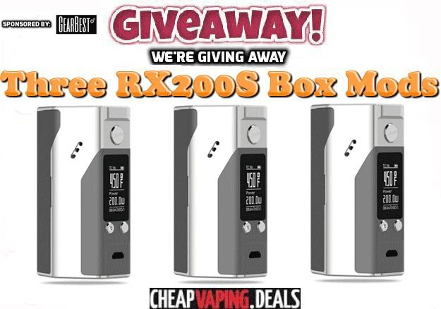 Giveaway: Three Reuleaux RX200S Box Mods at  https://wn.nr/bJ98Eg