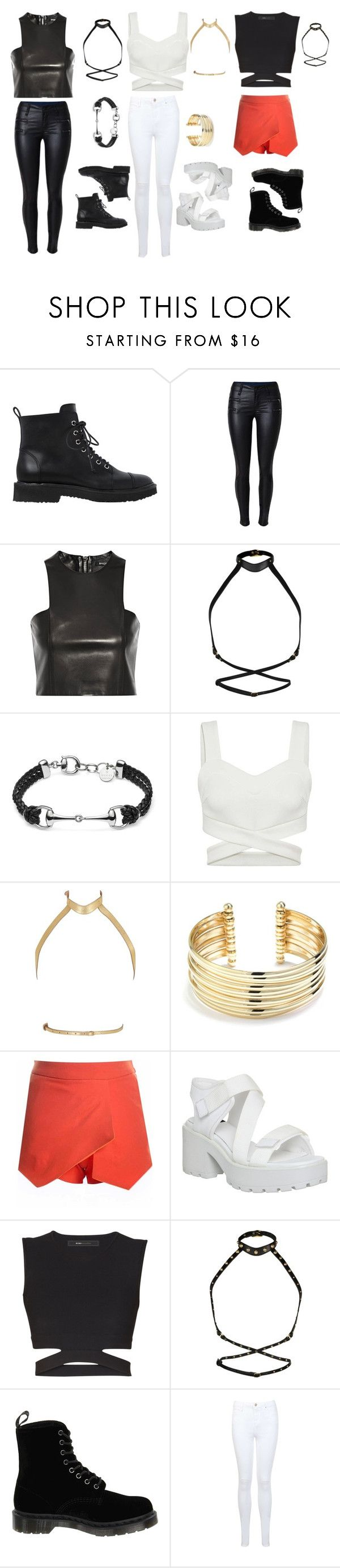 """IOI - Whatta Man"" by kpopinspired0525 ❤ liked on Polyvore featuring Giuseppe Zanotti, Balmain, Zana Bayne, Gucci, Belk Silverworks, Vagabond, BCBGMAXAZRIA, Dr. Martens, Miss Selfridge and kpop"