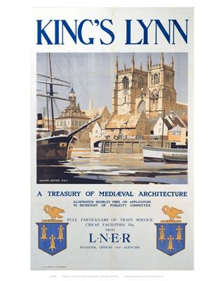 #King's #Lynn #Vintage #Rail #Railway #Train #Poster #Posters #Prints #Print #Art #UK #Britain #British #Old #Travel #Norfolk www.vintagerailposters.co.uk