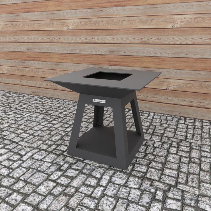 Quadro Air Carbon   Base model without wood storage.  Dimensions (mm): H 900 W 1000 D 1000