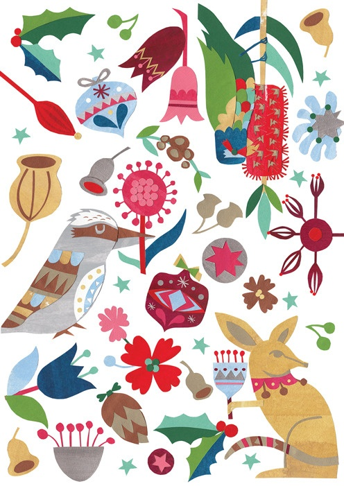 Australian Christmas Rozella Pattern by Andrea Smith