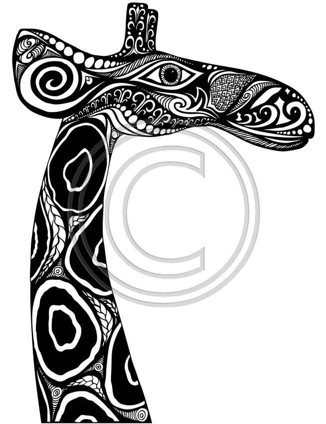 The Giraffe Project 2 Coloring Pages Colouring Adult Detailed Advanced Printable Kleuren Voor Volwassenen Coloriage Pour