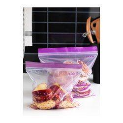 IKEA - ИСТАД, Пакет пластиковый, Закрывающийся пакет для многоразового использования.