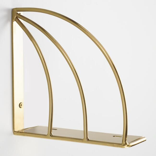 Inspired By The Golden Age Of Art Deco Style These Shelf Brackets Form Gilded Arcs Like Bookends Above Our Mi Art Deco Bedroom Art Deco Fashion Shelf Brackets