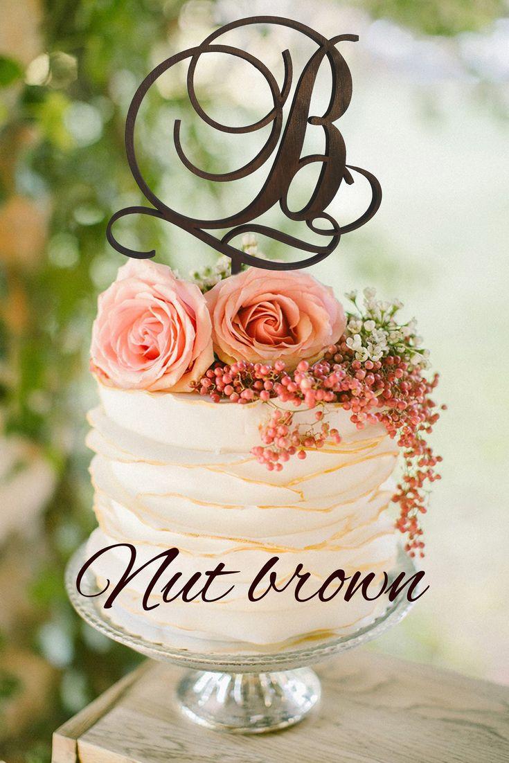 Initial cake topper b letter b cake topper gold monogram