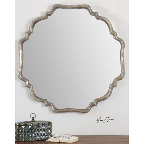 Valentia Silver 33 Inch Mirror Uttermost Octagon Mirrors Home Decor