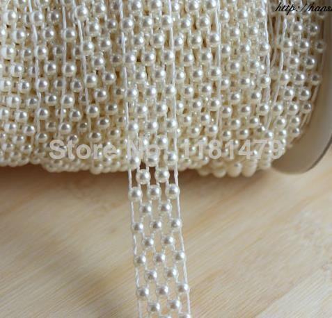 5 linha cadeia de cruz de plástico pérola apartamento de volta cabochon branco frisado guarnições apliques de costura enfeite diy projetos de artesanato kit em Miçangas para Roupas de Home & Garden no AliExpress.com   Alibaba Group