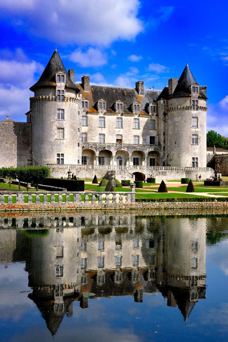 Chateau de la Roche Courbon, France by Parlamer