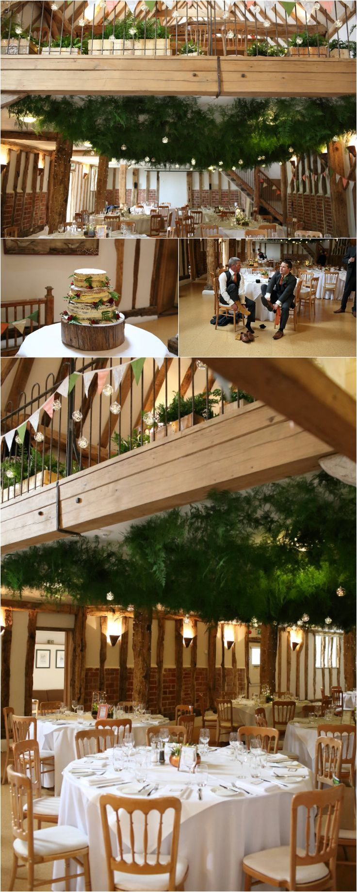 forest canopy at Moreves barn wedding, green foliage by Wild Poppies florist.  Naked cake.  Reportage wedding photography Suffolk.