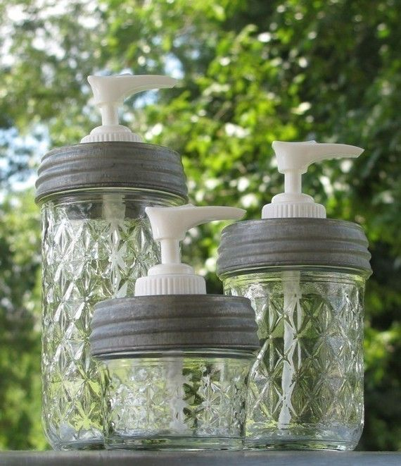 Mason Jar Soap Dispensers.