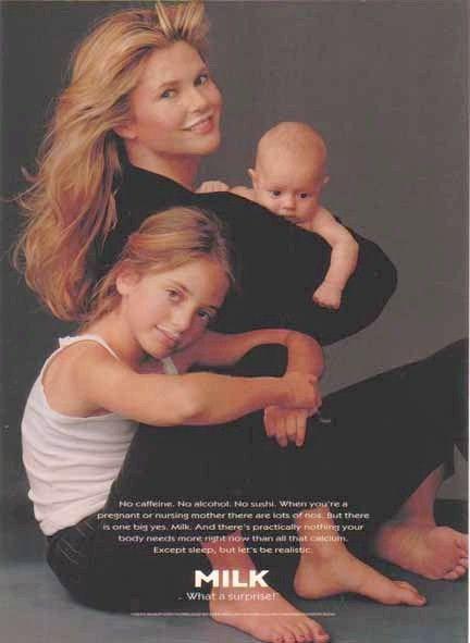 Christie Brinkley with Children - Got Milk? Ad, Got Milk? Ads