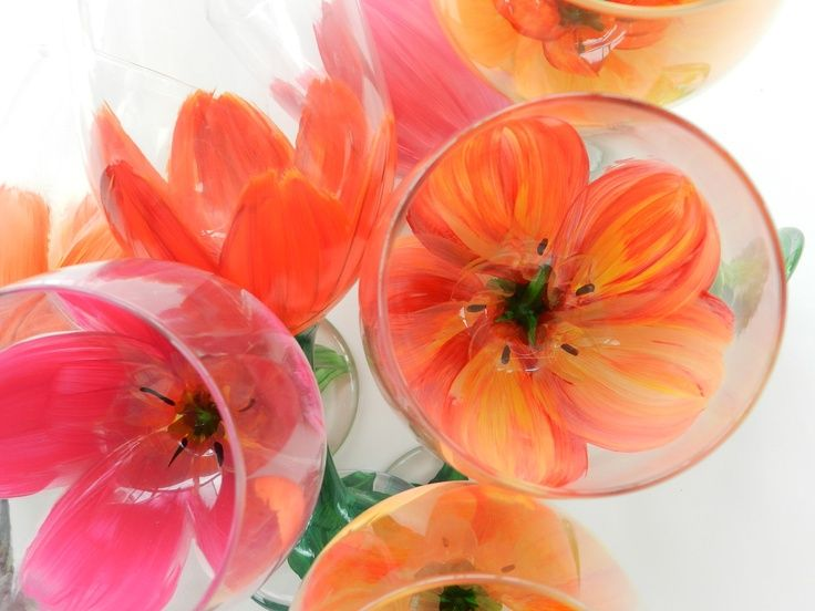 17 Best ideas about Tulip Wine Glasses on Pinterest | Red flower ...