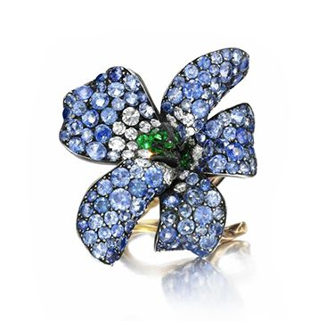 Sapphire, Emerald and Diamond 'Violet' Ring, by JAR. Via FD Gallery, www.fd-inspired.com