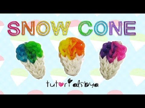 Rainbow Loom Snow Cone Charm - EASY. Designed and loomed by TutorialsByA. Click photo for YouTube tutorial. 03/09/14
