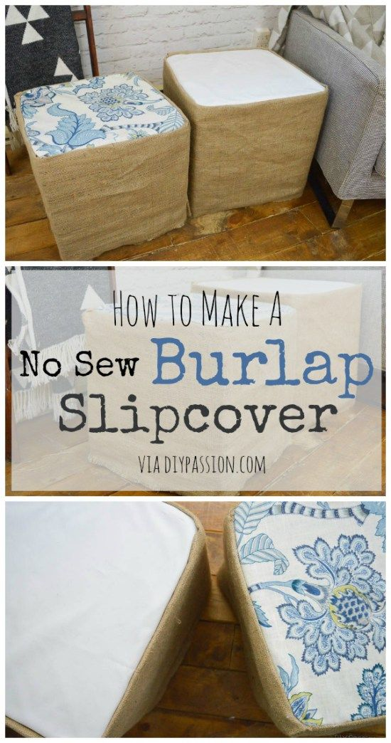 How to make a no sew slipcover in less than an hour - DIY Passion