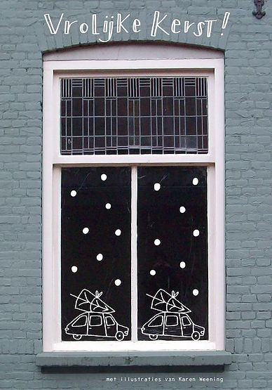 Met Sinterklaas had ik op het krijtbord van Gijs een leuke tekening gemaakt van krijtbordstift. Ik vond het zo gezellig dat ik er nu met Kerst weer iets op ga