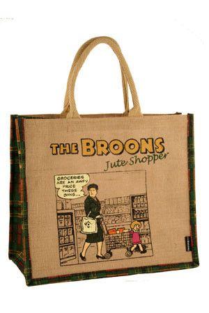 THE BROONS JUTE SHOPPING BAG