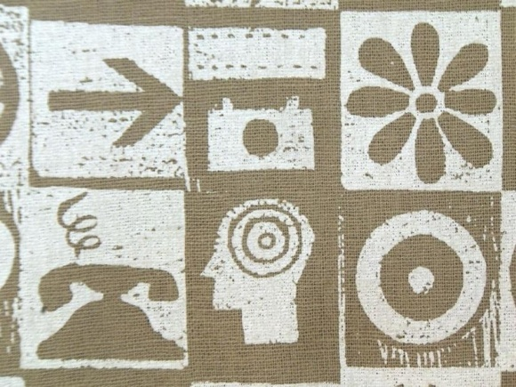 Modern Symbolism fabric by CBD Fabrics