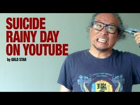 Rainy day suicide on Youtube