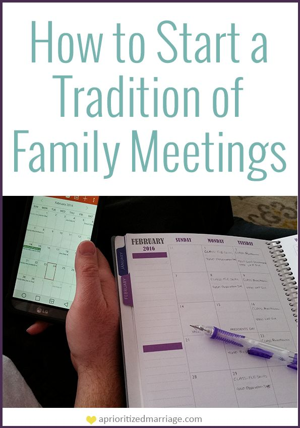 I can't wait to start a tradition of holding family meetings in our home every week!