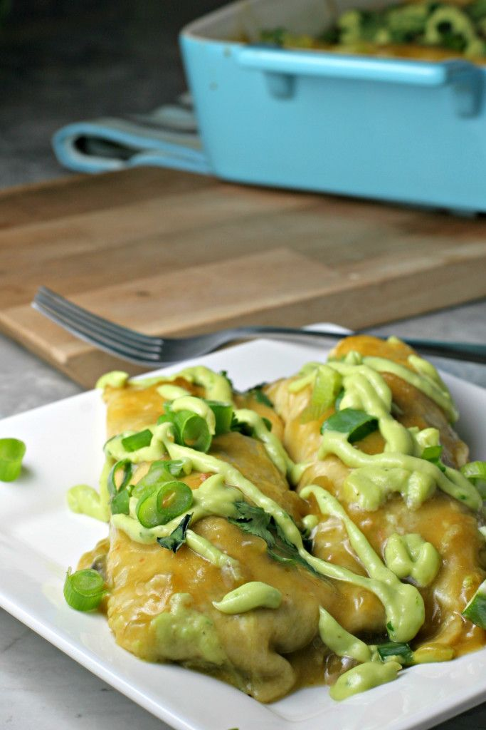 Karina's Sweet Potato Black Bean Enchiladas Recipe — Dishmaps