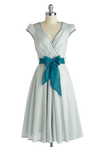 Have the Dance Floor Dress in Teal via ModCloth