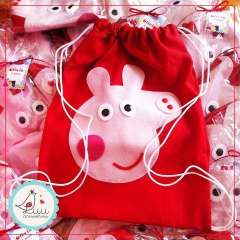 PEEPA PIG | Mochila Peppa Pig | Festa Peppa Pig | Lembrancinha Peppa Pig | Peppa Pig party |  luucinha@gmail.com